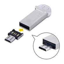 Ascromy 2PCS Mini USB Flash Disk U Disk OTG Converter Adapter For Xiaomi HTC Samsung Galaxy Note HuaWei Mobile Phone Adapters