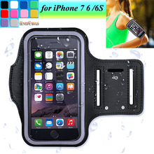 Waterproof Sports Running Arm Band Leather Case for iPhone X 8 7 6 6S Mobile Phone Holder Pouch Belt GYM Cover(China)