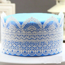 New Silicone Fondant Mat Flower Pattern Silicone Lace Molds Kitchen Cake Decorating Styling Tools(China)