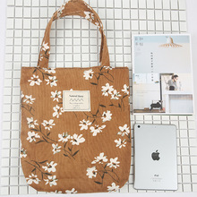 YILE Autumn Winter Floral Corduroy Shoulder Bag Eco Shopping Tote ZT9-05(China)