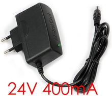 1PCS High quality DC 24V 400mA IC program AC 100V-240V Converter Switching power adapter Supply EU Plug DC 5.5mm x 2.1-2.5mm(China)
