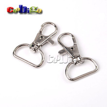 "10pcs 3/4""(20mm)Webbing Strap Matel Loster Clasps Snap Hooks Swivel Bag Parts & Accessories Nickel Plated KeyChain#FLQ059-C(China)"