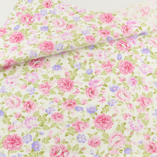 Teramila Fabrics Pink Rose Cotton Fabric Bedding Clothing Patchwork Quilting Sewing Cloth Cover Home Textile Decoration Crafts(China)