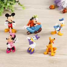 Cartoon Mickey Mouse and Donald Duck Daisy Duck Goofy Pluto PVC Action Figure Model Toy 6pcs/set