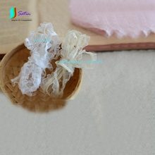 Diy Lace Accessories Fungus Edge Wave Design Beige White Colour Stretch Elastic Ruffle Clear Mesh Yarn Lace for Baby Dress S0145