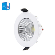 [DBF] Patent product Dimmable LED Recessed Downlight 5W 7W 9W 12W 15W/18W COB Chip LED Ceiling Spot Light Lamp White/ Warm white(China)