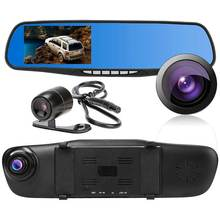 HD 1080P 4.3inch Car Rearview Mirror DVR Video Night Vision Dual Lens Camera Dash Cam Recorder CSL2017