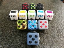 Mini Fidget Cube Gifts For Squeeze Fun Stress Reliever  11 colour Click Breathe Roll Spin  Flip Glide With Box