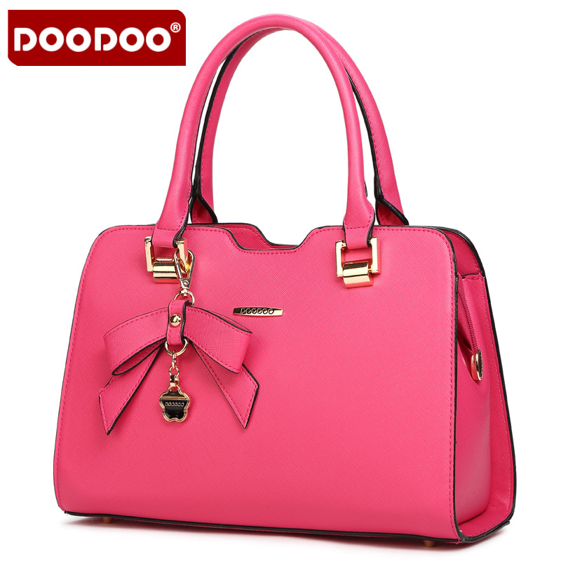 DOODOO 2017 Women Handbags Of Famous Brands new Women Bag Genuine Leather Famous Brand Bowknot crossbody bags for women T463<br><br>Aliexpress