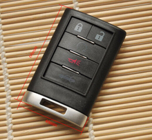 5 Buttons Smart Remote Key Case  For Cadillac Entry Fob Key Shell Cover with logo Free Shipping
