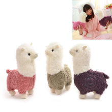 36 cm New Fabric Sheep Stuffed Animal Plush Llama Yamma Alpaca Doll Toy Birthday New Year Christmas Gift For Baby Kid Children