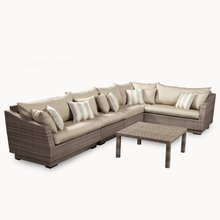 2017 Modern corner sofa poly rattan outdoor furniture on sale(China)