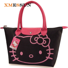 XMESSUN Brand Promotions Hello Kitty Bag Designer Waterproof Shoulder Bag Black Shopping Girls Women Handbags bolsa feminina 063