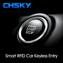 CHSKY Car Engine Push Start Button RFID Engine Lock Ignition Keyless Entry System Go Push Button Engine Start Stop Immobilizer(China)