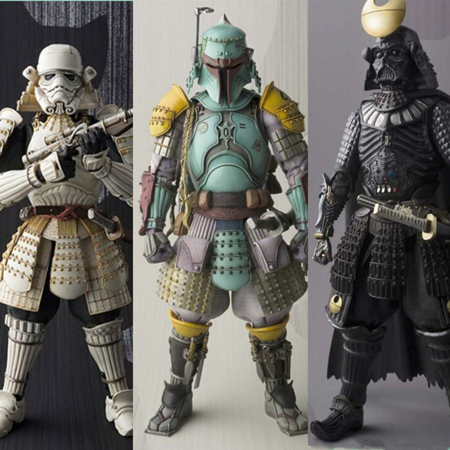 Stormtrooper Darth Vader Boba Fett Sic Samurai Taisho 17cm Realization Anime Figures Toys WITH IN BOX<br>