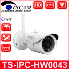TSCAM TS-IPC-HW0043 HD 720P 1.0MP Wireless WiFi Camera P2P IP Camera Waterproof IR-cuts Surveillance Camere For Home Security(China)
