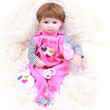 real dolls reborn doll 42cm bebe girl reborn babies dolls toys silicone vinyl real Newborn baby Dolls for children gift