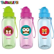 New Design 350ml Lovely Animals Outdoor Portable Outdoor Sports Cycling Camping Bicycle Tritan School Kids Water Bottle