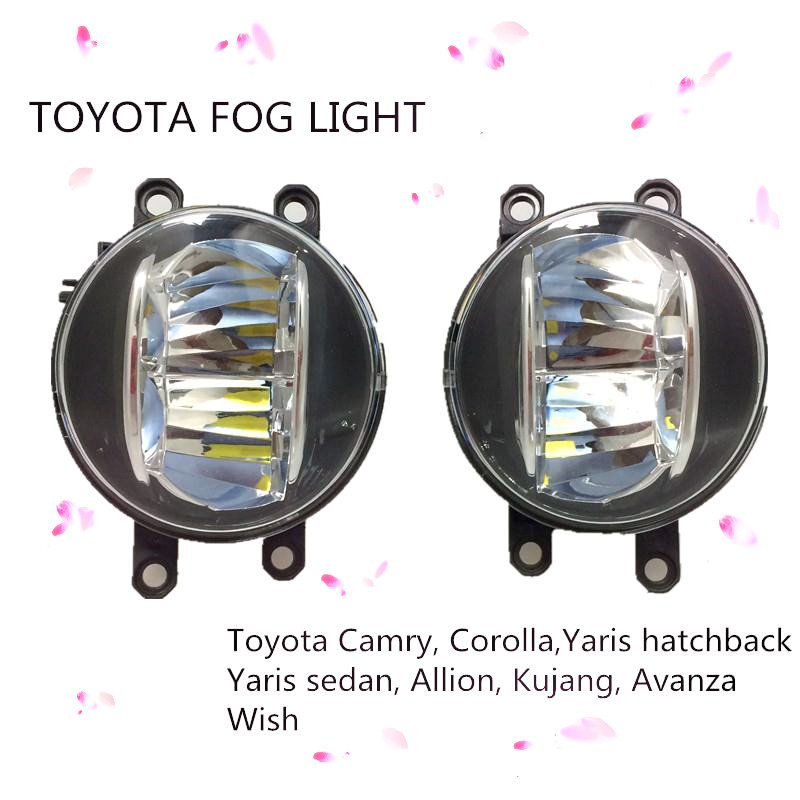 2pcs 40W LED Round Front Right/Left Fog Light Lamp Daytime Driving Running Lights for Car Camry Corolla Yaris PREVIA RAV4 AURION<br><br>Aliexpress