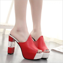 QICIUS Women Pumps Super High Heels Sandals Shoes Woman Peep Toe High Heels Shoes Party Club Shoes Sexy Sandals Women New B0017