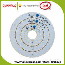 Two years warranty high CRI low THD aluminum ring shape led PCB for ceiling light no need driver with lifespan 50000h