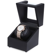 6 Colors New Luxury Rotary Automatic Rotating Wooden Watch Winder Display Box High Gloss Piano Paint Watch Winder Wristwatch Box