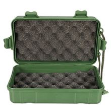 Universal Waterproof Anti Fall Green Plastic Storage Box For Flashlight Light Torch Lamp Battery Charger Case Holder 18*12*5cm