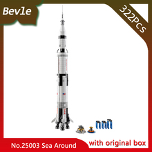 LEPIN 37003 1969Pcs with original box Technic Series Apollo Saturn 5 rocket Model Building Set Blocks Bricks children Toys 21309