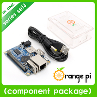 Orange Pi One Set 3: Orange Pi One+ Transparent ABS Case+ USB to DC 4.0MM - 1.7MM Power Cable Support Android, Ubuntu, Debian