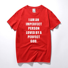 I Am A Imperfect Person Loved By A Perfect God Funny Christian Jesus T Shirts Tshirt Men Clothing Short Sleeve T-Shirt Camisetas(China)
