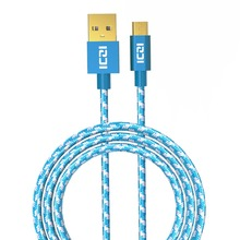 ICZI 3 Pack 1M Micro USB Cable Nylon Braided High Speed USB 2.0 Data Cable For Samsung Xiaomi Huawei Android Mobile Phone Cables