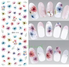 Water sticker for nail art all decorations sliders Purple flowers adhesive design decals manicure lacquer accessoires stickers