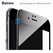 Bainov 3D Curved Edge Glossy Carbon Fiber Full Cover Tempered Glass For iPhone 6 6S Plus Screen Protector Film For iPhone 7(China)