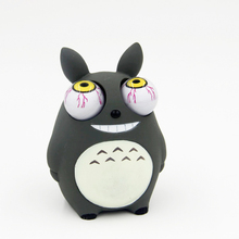 Crowded eyes antistr Totoro Squishy Toy Zombie Novelty Fun Anti Stress Funny Spoof Christmas Halloween Toys JY46(China)