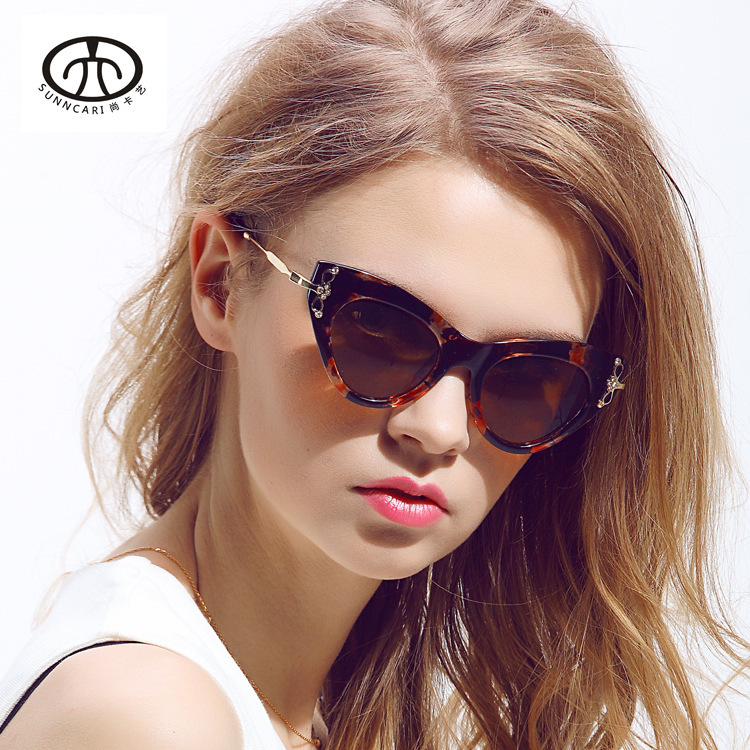 Chashma 2015 New Arrival European and American popular diamond butterfly sunglasses ladies UV sunglasses glasses X1 Mask<br><br>Aliexpress