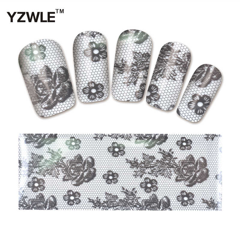 YZWLE 1 Pack(10Pcs) DIY Nail Art Transfer Foil Decal Beauty Craft Decorations Accessories For Manicure Salon #XKT-N17<br><br>Aliexpress