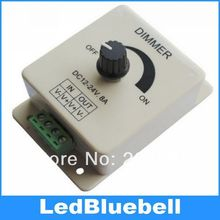 Wholesale 60pcs/lot 12V / 24V 8A LED Switch/Dimmer for LED 5050 3528 5630 7020 Strip light Dimmer Controller(China)