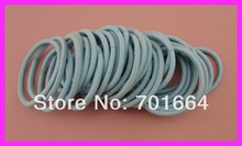 50PCS  4mm light blue elastic pony tail holders Hair bands with gluing connection,fushia elastic hair ties