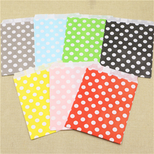 gift bags 25pcs red polka dot spotty paper bag without handle wedding birthday party favour candy loot bag food Packaging