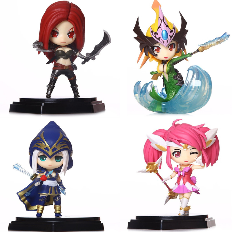4 Packs LOL Figure Lux Nami Katrina Ashe Original Box Jinx Sword PVC 4.7Inch Anime Brinquedos LOL Action Figure Model Collection<br><br>Aliexpress