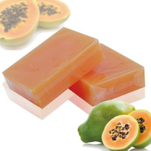 110g Natural Organic Herbal Green Papaya Whitening   Skin Remove Acne Moisturizing Handmade Soap 1 Piece