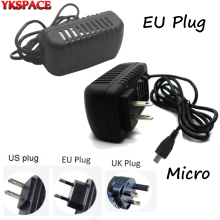 YKSPACE 5V 2A EU US UK AU Plug Fast Charging Charger Adapter for Samsung Huawei Tablet PC Android Smart Phone 1m Micro USB Cable(China)