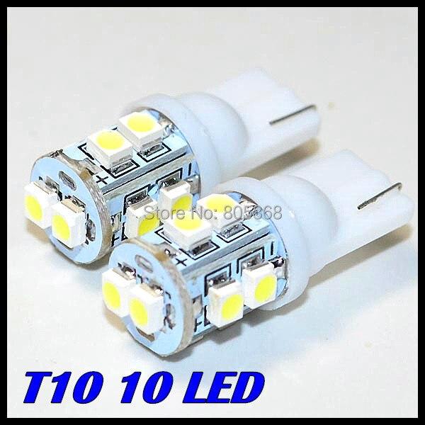 Wholesale 100pcs/lot T10 10smd led 194 168 192 W5w 1210Smd t10 10led Super Bright Auto Led Car Lighting/t10 Wedge Lamp<br><br>Aliexpress