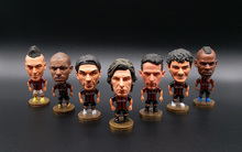 Soccerwe Italy Milan Soccer Stars Lovely Action Figure Model Toys Football Dolls Car Decoration Kid Gift Pirlo Baggio Maldini(China)