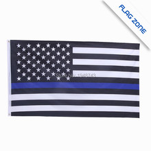BlueLine usa Police Flags, 3 By 5 Foot Thin Blue Line USA Flag Black, Red line flag, With Brass Grommets Epacket Drop Shipping(China)