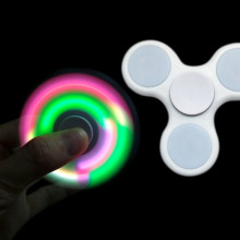 Buy LED Light Fidget Spinner Finger ABS EDC Hand Spinner Tri Kids Autism ADHD Anxiety Stress Relief Focus Handspinner B0158 for $1.50 in AliExpress store