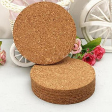 5pcs Wine Tablemats Round Coffee Hot Tea Pop Coasters Creative Cup Mat Drink Cork Chic Placemats