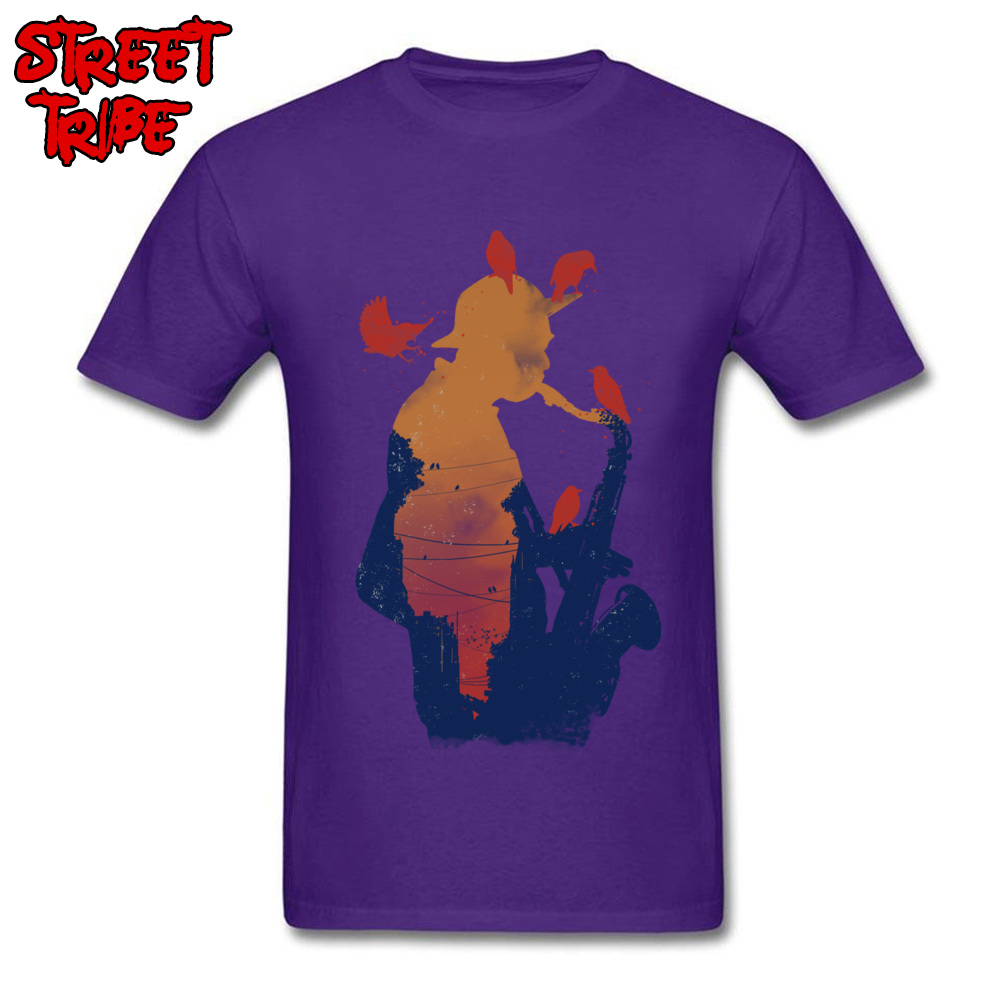 Mens Top T-shirts Even Birds Love it Crazy Tops T Shirt 100% Cotton Round Neck Short Sleeve Casual Tees Thanksgiving Day Even Birds Love it purple