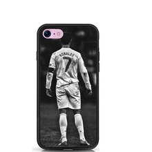 Football Star Cristiano Ronaldo CR 7 Black Soft TPU Cover Case For iPhone SE 5 5S  6 6 Plus 7 7Plus Cases
