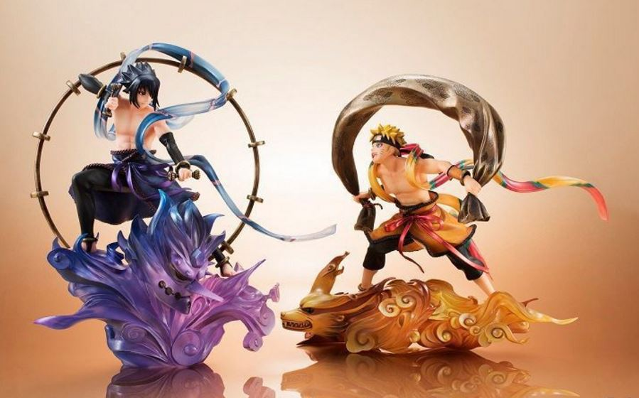 25CM pvc Japanese anime figure NARUTO Uzumaki Naruto Uchiha Sasuke saction figure collectible model toys for boys<br>